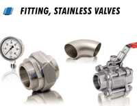 Stainless steel valves, pipes and fittings