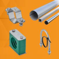 Pipes, sheets, flat bars and profiles, support for piping